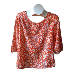 Francesca's Buttons Brand 3/4 sleeve top small